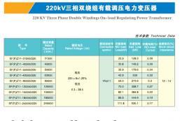 220KV三相双绕组有载调压电力变压器