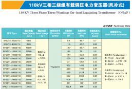 110KV三相三绕组有载调压电力变压器(风冷)