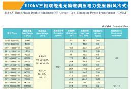 110KV三相双绕组无载调压电力变压器(风冷)