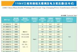 110KV三相双绕组无载调压电力变压器(自冷式)